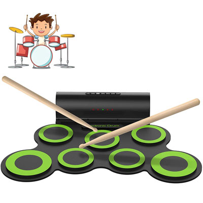 5. ORASANT Electric Drum Set with Built-in Speaker & Headphone for Kids, Teens & Adults