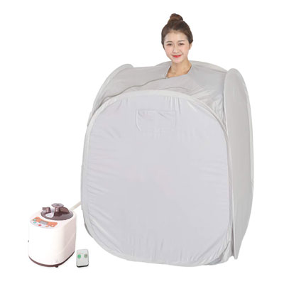 6. Smartmak Portable Steam Sauna for Weight Loss –Grey