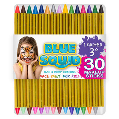 1. Blue Squid Face Painting Kit for Kids for Birthday Party