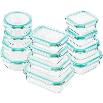#1. Bayco Glass Food Storage Containers