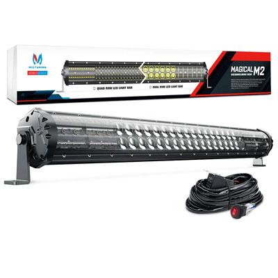 6. MICTUNING Magical M2 Aerodynamic 31 Inch 180E LED Light Bar