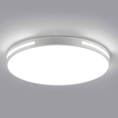 #9. Ganeed 12-Inch LED 18W 6500 Cool White Ceiling Lighting Fixture Round Hollow Room (White)