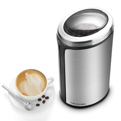 5. Taucken Ultimate Coffee Grinder with Stainless Steel Blades