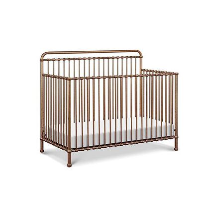 2. Million Dollar Baby Classic Vintage Gold Convertible Crib for a Toddler and Full-Size Bed