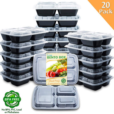 7. Enther Meal Prep Containers- BPA Free, Dishwasher/Freezer Safe