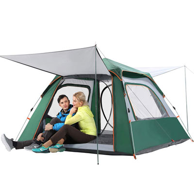 6. CHANODUG Family Camping Tent- Portable and Lightweight