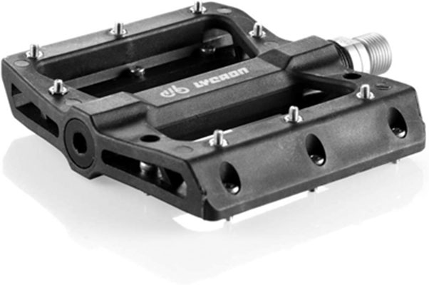9. LYCAON Bike Pedals, Lightweight and Non-Slip for 9/16 Mountain Bike