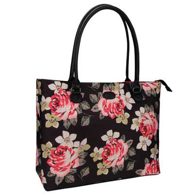 8. Chomeiu Laptop Tote Bag, 15.6 Inches Laptop Organizer Bag for Women (Flower)