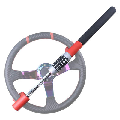 6. OKLEAD Universal and Keyless Steering Wheel Lock