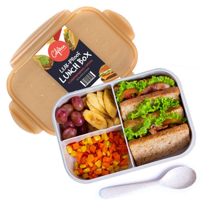 #7. California Home Goods Bento Lunch Box Containers