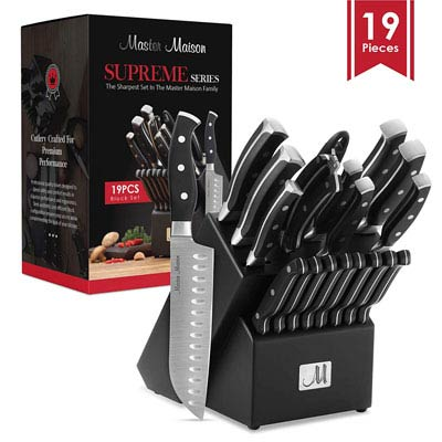 6. Master Maison 19 Pcs Kitchen Knife Set | German Stainless Steel