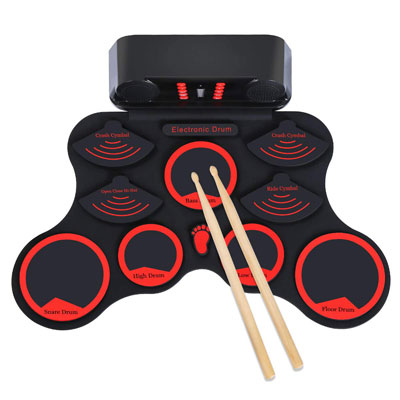 4. Elejolie Electronic Drum Set with Headphone Jack and In-built Dual Speaker