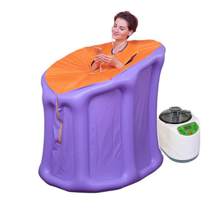 10. Wanforjewellery Portable Steam Sauna (Purple)