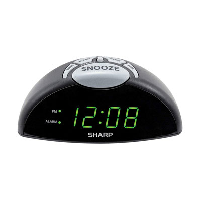 4- Sharp Digital Alarm Clock with USB