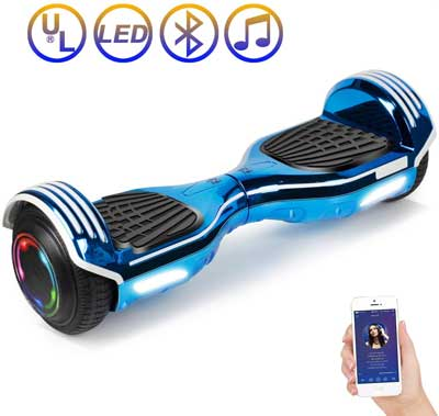 #7. SISIGAD 6.5'' Two-Wheels with LED lights & Bluetooth Speaker Electric Scooter for Adult Kids(Plating Dazzle Series)