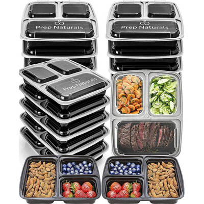 4. Prep Naturals Meal Prep Containers for Adults with Lids
