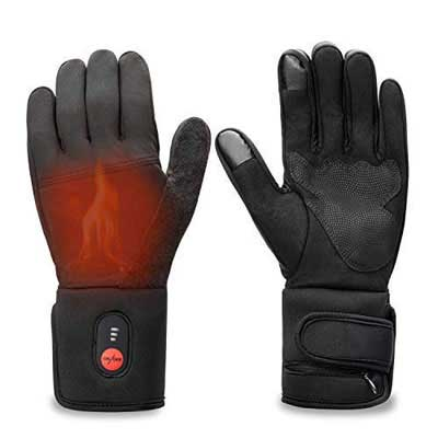 #3. Sun Will Rechargeable Heated Thin Gloves – Unisex