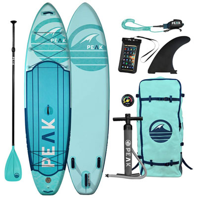 3- Peak Expedition Inflatable Paddle Board- Durable & Lightweight