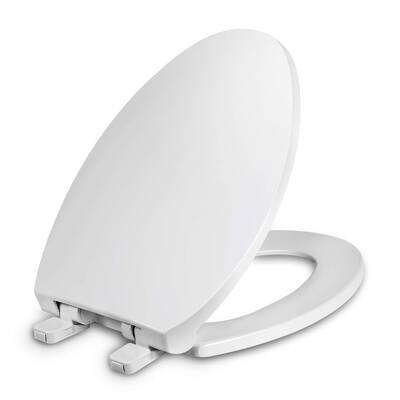 #3. WSSROGY Slow Close Elongated Toilet Seat with Cover, Oval Toilets