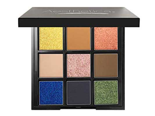 10. Aesthetica BE Eyeshadow Palette - 9 Shades - Glitter & Matte Eye Shadow Kit