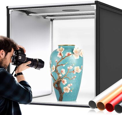 3. Samtian Tent and Tabletop Portable Photo Studio Light Box with Background Paper