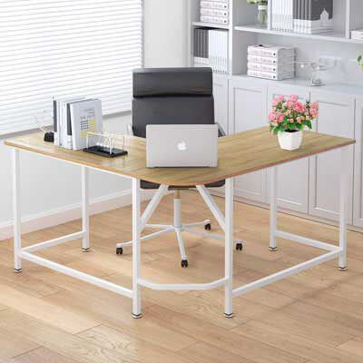8. ELEGANT L-Shaped Desk Corner Workstation