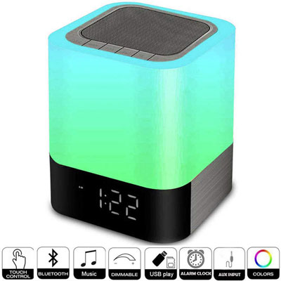 9- Hetyre Digital Alarm Clock with USB