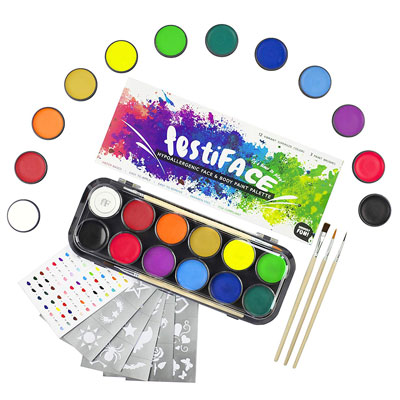 5. festiFACE Face and Body Painting Kits - 12 Vibrant Color