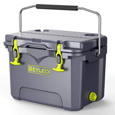 4. REYLEO Cooler, 21-Quart for Camping