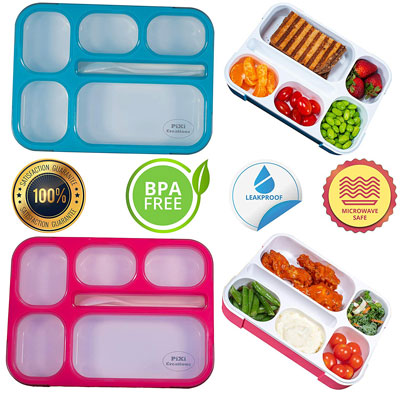 #2. PIXI Creations Adult Bento Lunch Box Containers