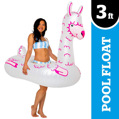 8. BigMouth Inc. Pool Float with 200 Pounds Weight Capacity