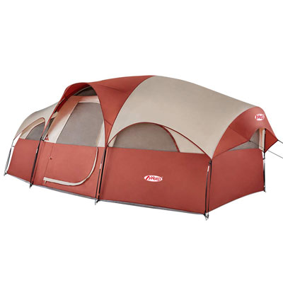 9. TOMOUNT 8-Person Camping Tent – Red