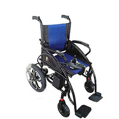 9. Alton Medical Electric Wheelchairs Transport Friendly FDA Approved Wheelchair (Blue)