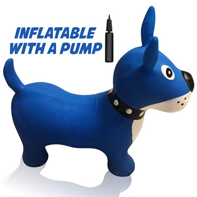 5. Hoovy Inflatable Horse Bouncer with Pump | Portable, and Travel-Friendly