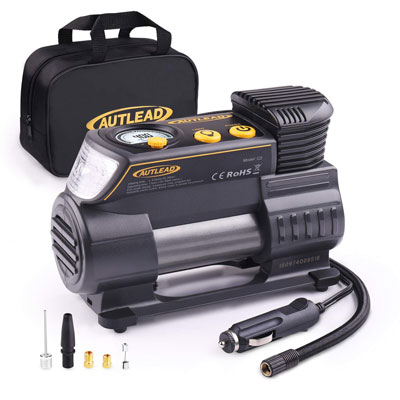 7. AUTLEAD Tire Inflator with Digital Gauge for Car