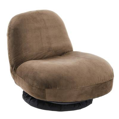#9. Amazonbasics Small Adjustable Memory Foam Low Back Swivel Floor Reading Chair (Light-Brown)