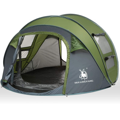 5. HUI LINGYANG Instant Family Camping Tents