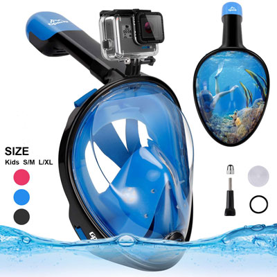 #1. Gpeng Full Face Snorkel Mask