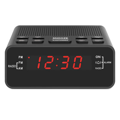 8- Jingsense Digital Alarm Clock with USB