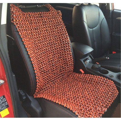 7. HomDSim Wood Beaded Auto Car Front Seat Cover