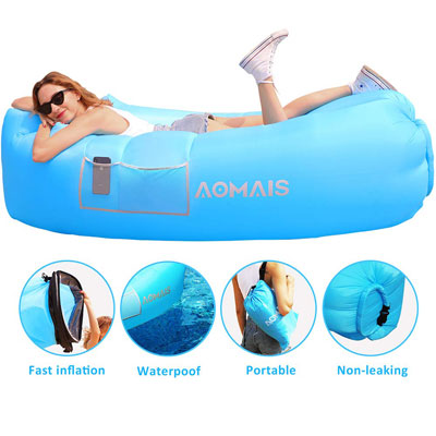 5. AOMAIS Inflatable Lounger Air Sofa with a Carrying