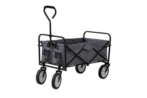 10. S2 Lifestyle Collapsible Folding Wagon with Wheels, Gray