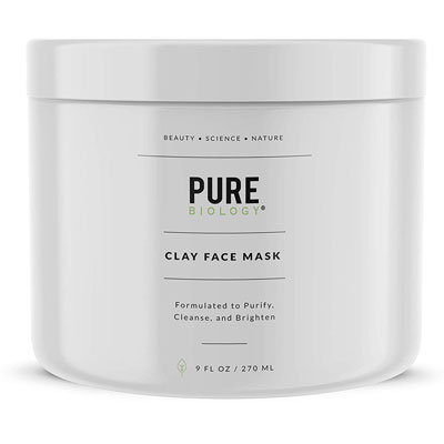 8. Pure Biology Premium Face Mask - Minimize Deep Pores for All Skin Types