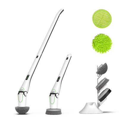 NPOLE Electric Scrubber with LED Display for Kitchen Floor and Bathroom