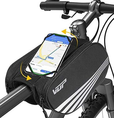 3. VUP Universal Front Frame Bike Phone Holder Bag for Fast Long-Distance Cycling