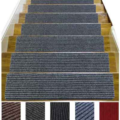 #4. Jorviz Non-Slip 14 Pack Stair Treads for Pet Safety and Child Proofing, Gray