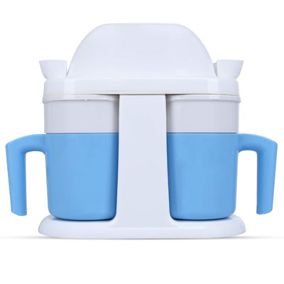 5. HoLead Mini Ice Cream Maker with a Mug Design, Medium