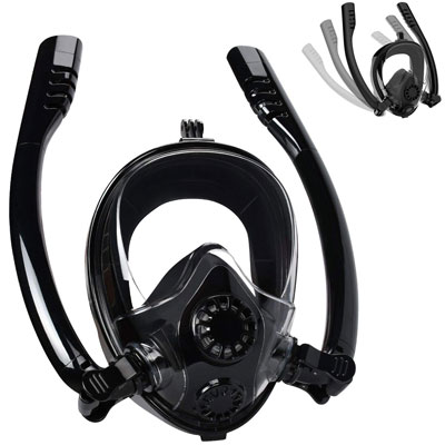 #9. Cevarpro Full Face Snorkel Mask