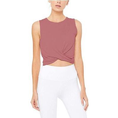 7. Bestisun Cropped Flowy Athletic Workout Tops for Women with Tanks Sleeve Type