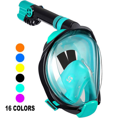 #8. W WSTOO Full Face Snorkel Mask